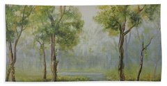 Landscape Of The Great Swamp Of New Jersey With Pond Bath Towel