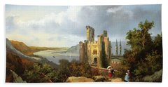 Landscape With A Castle Hand Towel