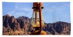 Lantern Over Superstitions Hand Towel