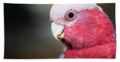 Large Pink And Grey Galah. Bath Towel