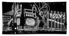 Las Vegas 1984 Bw #5 Bath Towel
