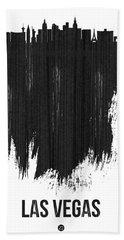 Las Vegas Skyline Brush Stroke Black Hand Towel