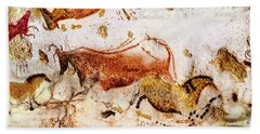 Lascaux Cows Horses And Deer Hand Towel