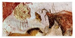 Lascaux Horse And Cows Hand Towel