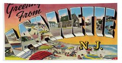 Lavallette Greetings Bath Towel