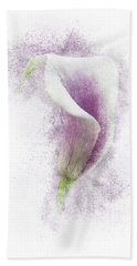 Lavender Calla Lily Flower Hand Towel