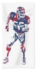 Lawrence Taylor New York Giants  Pixel Art 2 Bath Towel