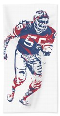 Lawrence Taylor New York Giants  Pixel Art 3 Hand Towel