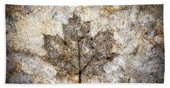 Leaf Imprint Hand Towel