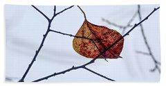 Leaf On Branch Bath Towel