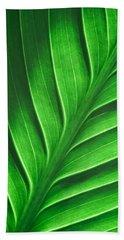 Leaf Pattern Bath Towel