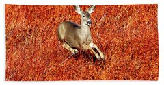Leaping Deer Bath Towel