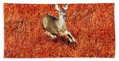 Leaping Deer Hand Towel