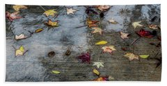 Leaves In The Rain Hand Towel