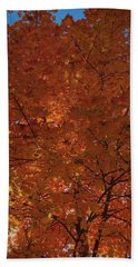 Leaves Of Fire Bath Towel