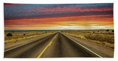 Leaving Lubbock Vanishing Point Hand Towel