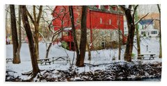 Lee's Merchant Mill With Snow Hand Towel