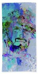 Legendary Clint Eastwood Watercolor Hand Towel