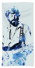 Legendary Eric Clapton Watercolor Bath Towel