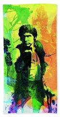 Legendary Han Solo Watercolor Bath Towel