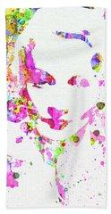 Legendary Marlene Dietrich Watercolor II Hand Towel
