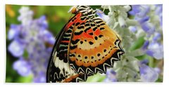 Leopard Lacewing Hand Towel