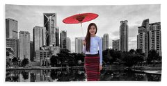 Bath Towel featuring the digital art Let The City Be Your Stage by ISAW Company