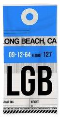 Lgb Long Beach Luggage Tag I Hand Towel