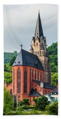 Liebfrauenkirche Oberwesel Bath Towel