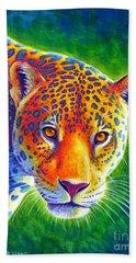 Light In The Rainforest - Jaguar Bath Towel