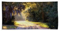 Light, Shadows And An Old Dirt Road Hand Towel