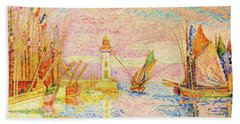 Lighthouse At Groix - Digital Remastered Edition Hand Towel