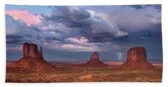 Lightning Across The Valley    Hand Towel