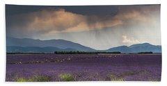 Lightning Over Lavender Field Hand Towel