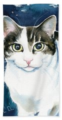 Lindy Cat Painting Bath Towel
