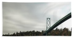 Lions Gate Bridge Vancouver Hand Towel