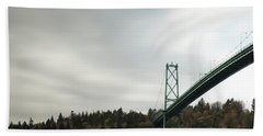 Lions Gate Bridge Vancouver Bath Towel