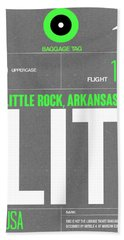 Lit Little Rock Luggage Tag II Hand Towel