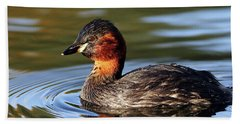 Little Grebe In Pond Hand Towel