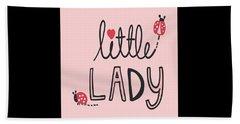 Little Lady - Baby Room Nursery Art Poster Print Hand Towel