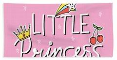Little Princess - Baby Room Nursery Art Poster Print Hand Towel