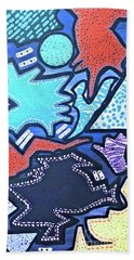 Bath Towel featuring the painting Live Abstract Painting  by Samantha Galactica