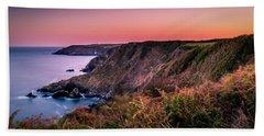 Lizard Point Sunset - Cornwall Bath Towel