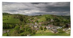 Llangurig From The Air Hand Towel