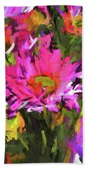 Lolly Pink Daisy Flower Hand Towel