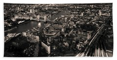 London At Night Bath Towel