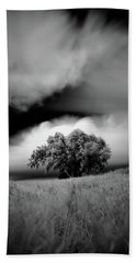 Lone Tree On A Hill Hand Towel