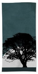 Lonely Tree In Safari Hand Towel
