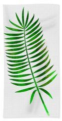 Lonely Tropical Leaf I Hand Towel