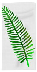 Lonely Tropical Leaf II Hand Towel